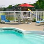 stone fence pool